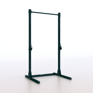 standing-rack-pro-squat-bilanciere-porta-dischi-safety-spotter- trazioni-pull-up-barbell-half-rack