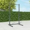 standing-rack-pro-squat-bilanciere-porta-dischi-safety-spotter- trazioni-pull-up-barbell-half-rack-outdoor
