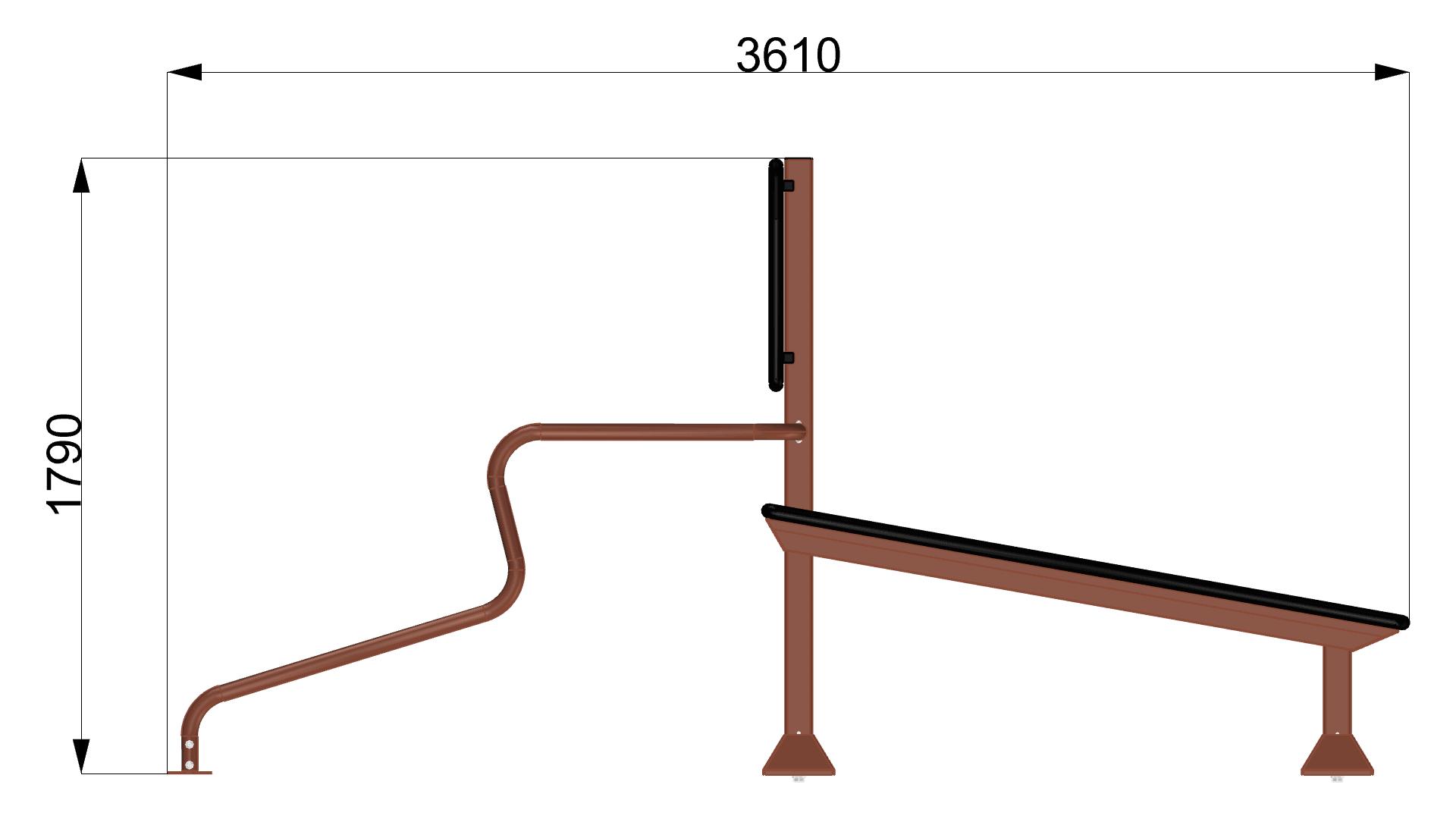 9085/2 Public Island Bench-Dips