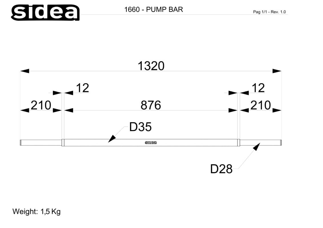1660 - Bilanciere Super Pump - Quote in mm