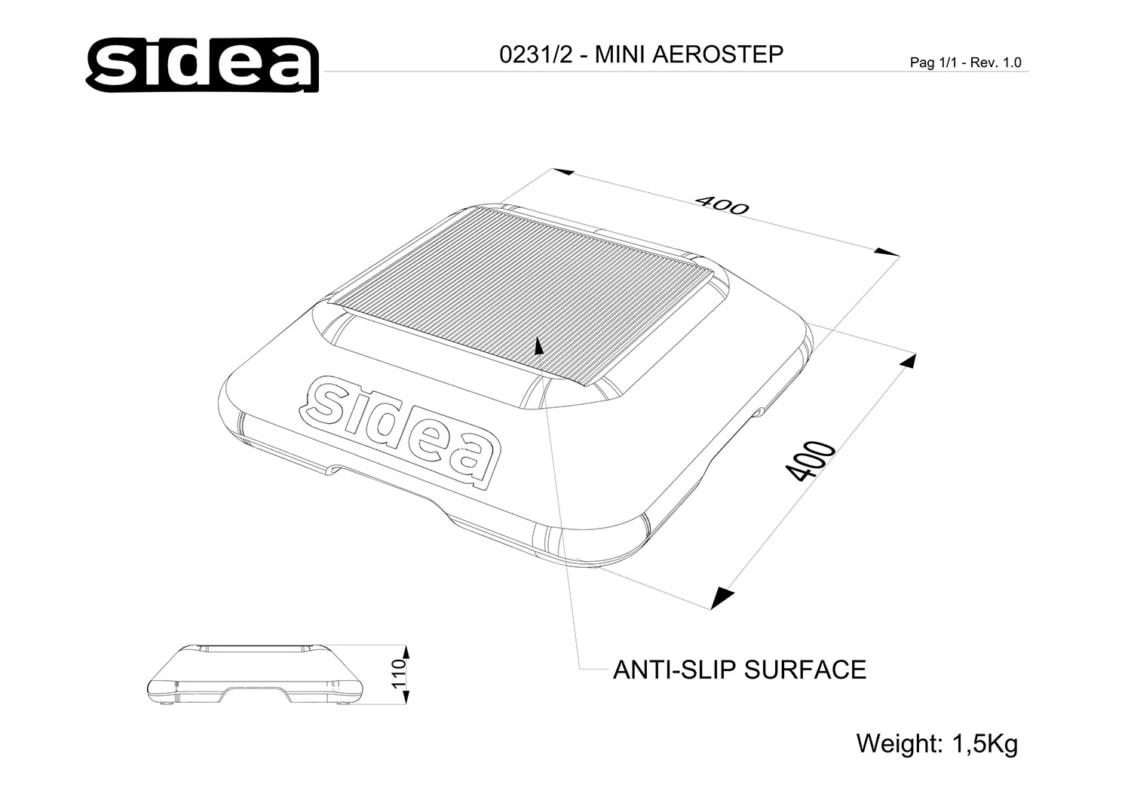 0231/2 Mini Aerostep - Quote in mm