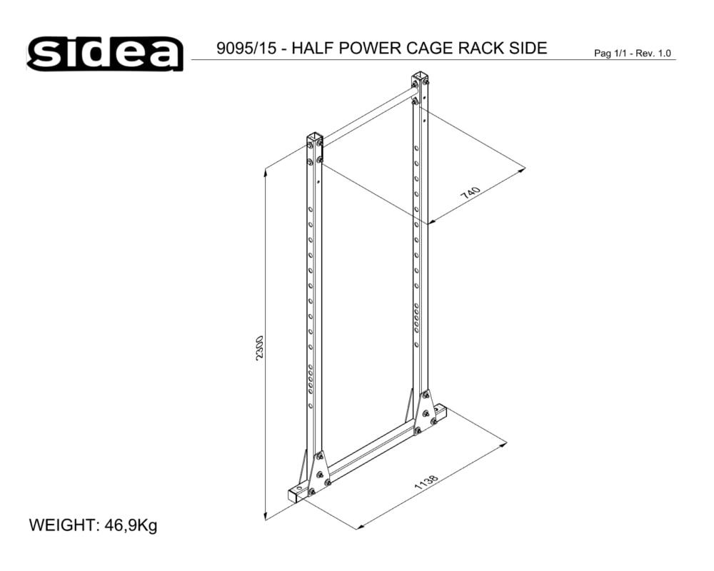 9095_15 - HALF POWER CAGE RACK SIDE