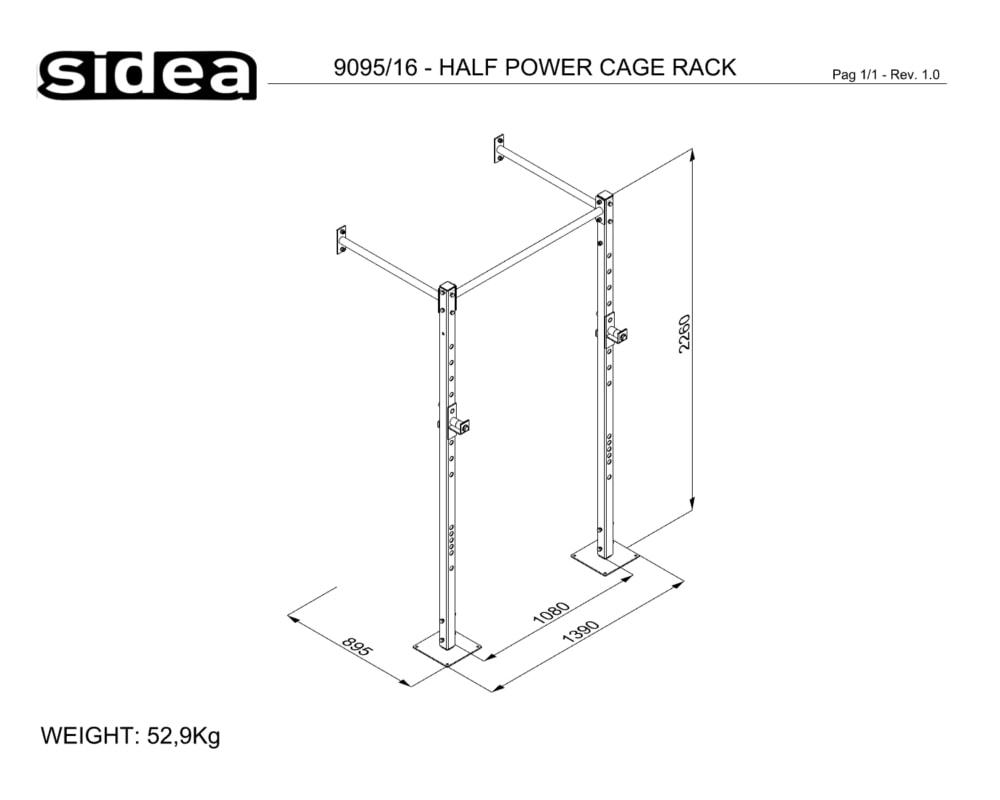 9095_16 - HALF POWER CAGE RACK
