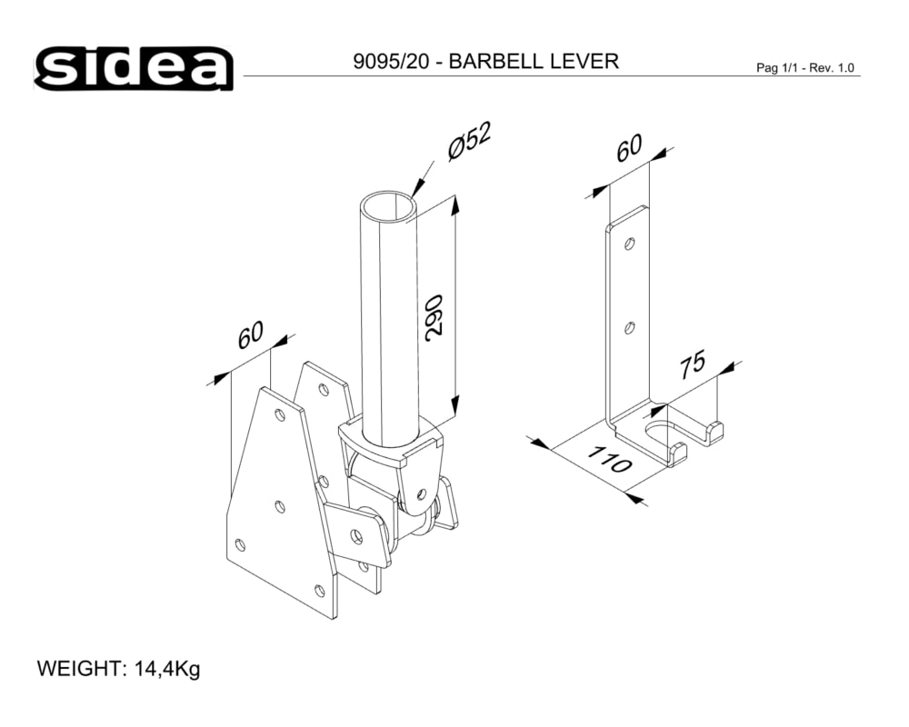 9095_20 - BARBELL LEVER