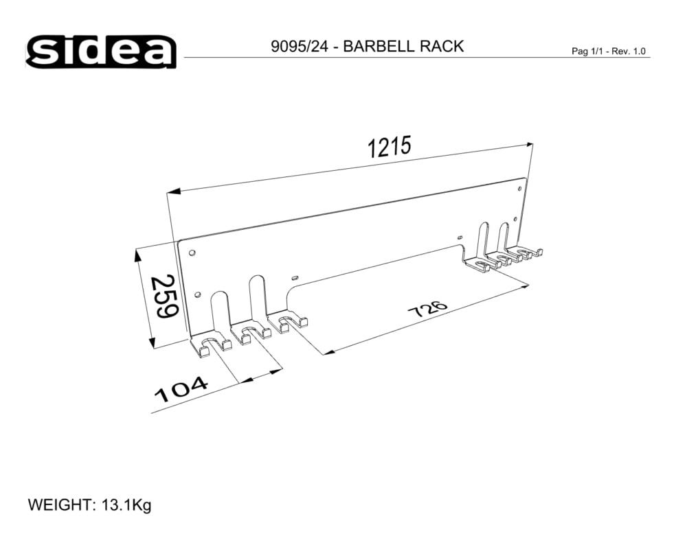 9095_24 - BARBELL RACK