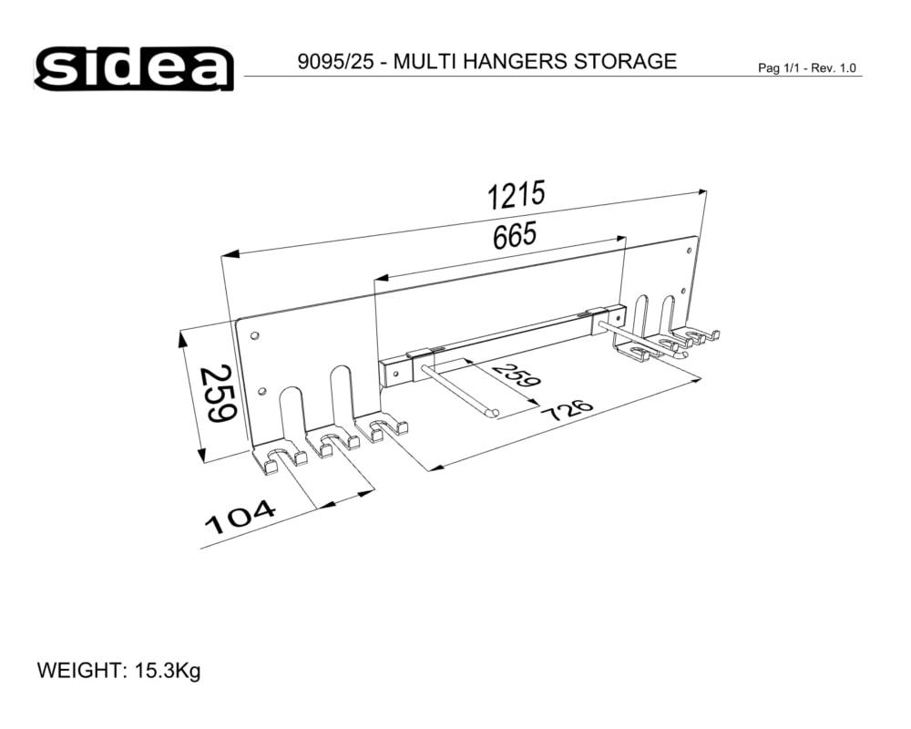 9095_25 - MULTI HANGERS STORAGE